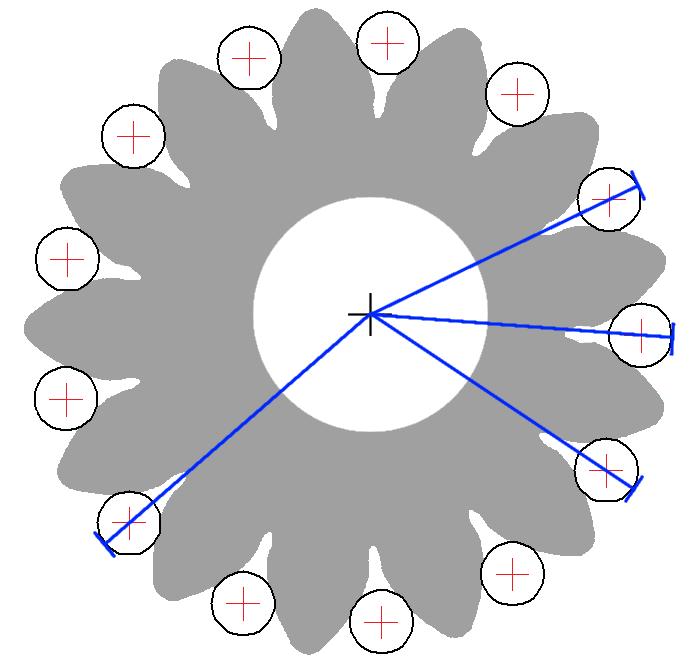 Exzentrische Radachse beeinflusst das radiale Einkugelmaß